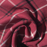REMNANT - 70cm Berry Check Viscose Twill