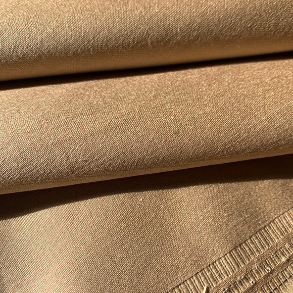 Tan Stretch Cotton Suiting