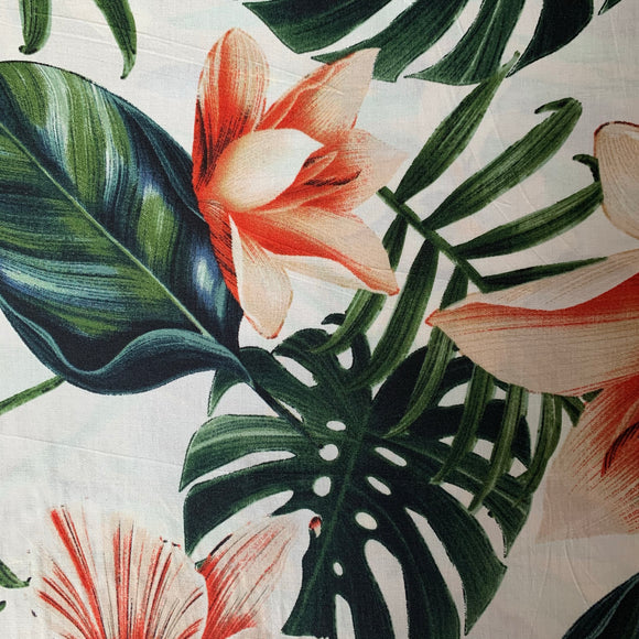 Tropical flower viscose