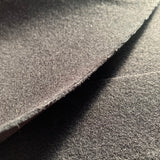 Black washable vegan wool coating