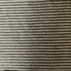 Grey horizontal stripe tubular ribbing