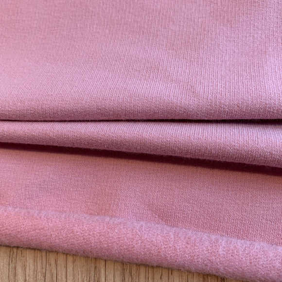 Soft Pink Organic Cotton Sweatshirting