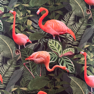 Flamingo cotton canvas