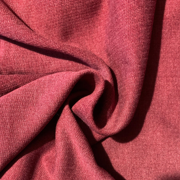 Burgundy melange brushed back sweatshirting