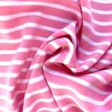 Pink and white striped jersey