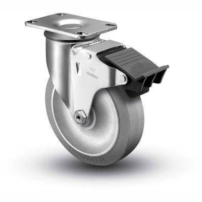 Swivel Plate Caster w/ Total Lock Brake