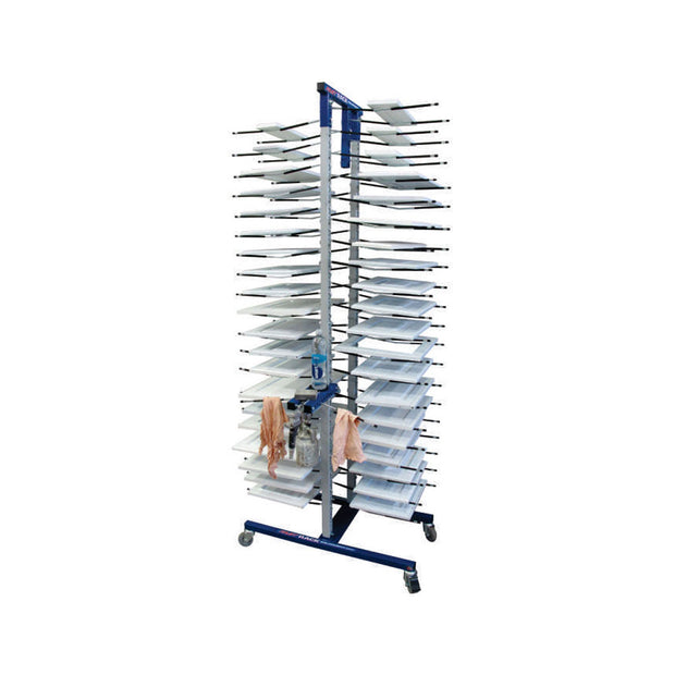Cabinet Drying Tower with minimal-contact arms for doors and cabinet painting - finishing