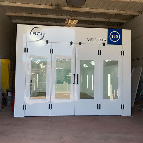 Vector 150 semi-down draft spray booth