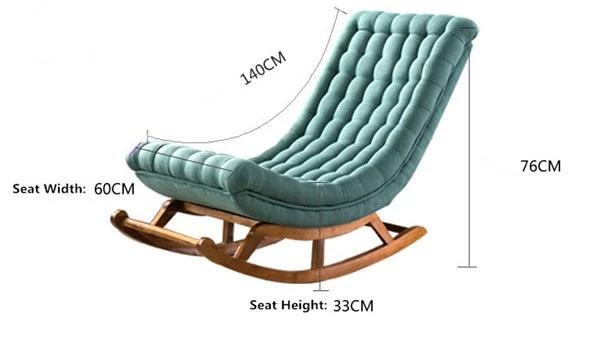 Modern Rocking Lounge Chair
