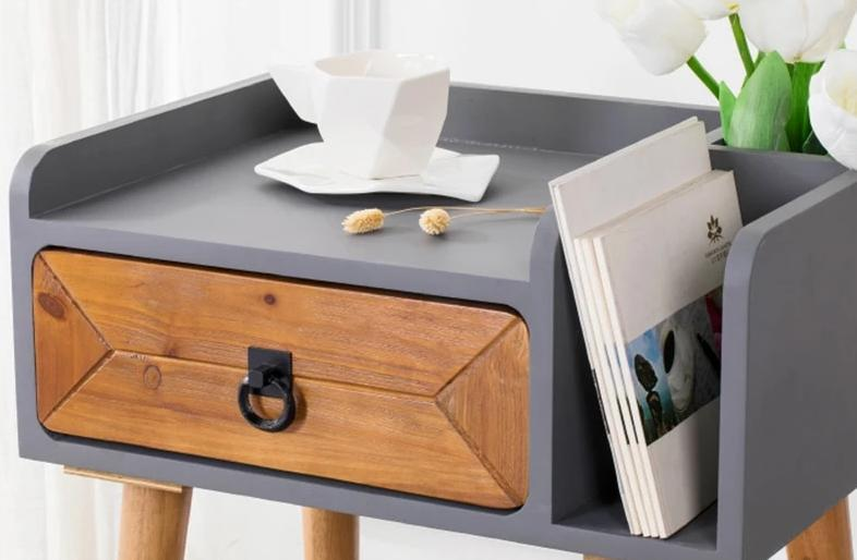Pinewood Bedside Table