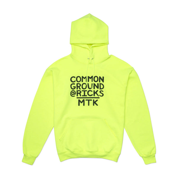 Neon Yellow Common Ground @RICKS MTK Hoodie