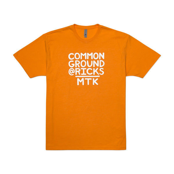 Common Ground MTK Crew Neck Tee-Shirt (Orange)