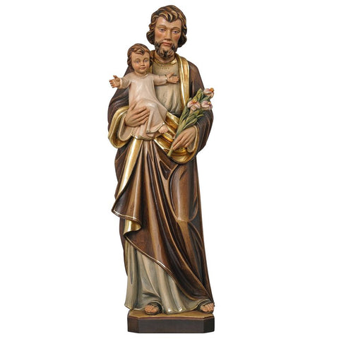 St Joseph statue in wood