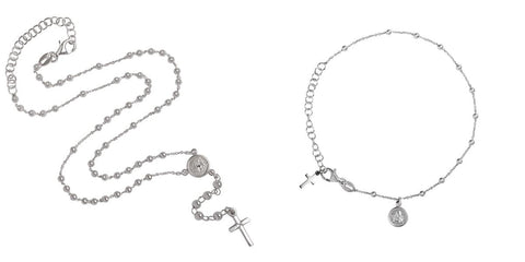 Rosary necklace and rosary bracelet