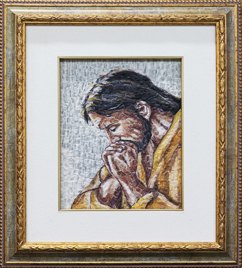 Praying Jesus mosaic