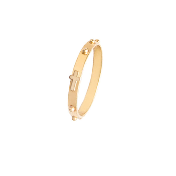 ROSARY RING - GOLD