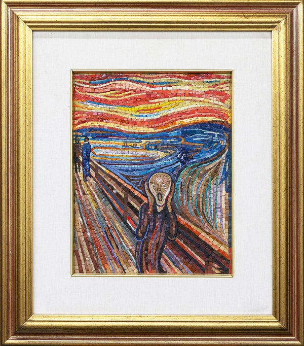 The Scream by Munch mosaic