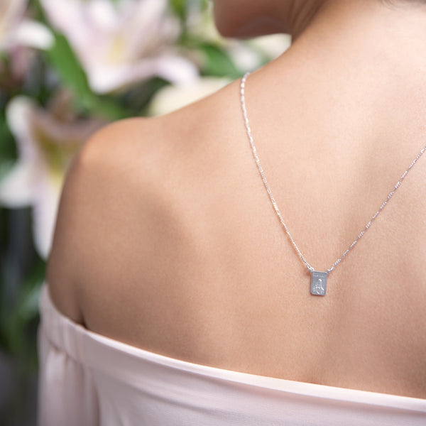 SCAPULAR NECKLACE - SILVER