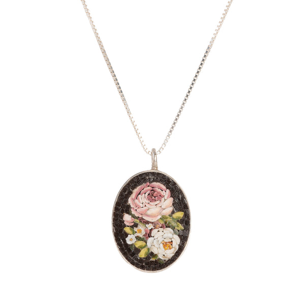 Flemish Flowers micromosaic necklace