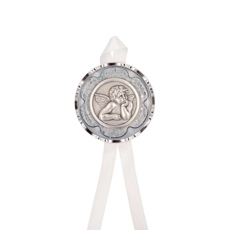 ANGEL - WHITE CRIB MEDAL - METAL