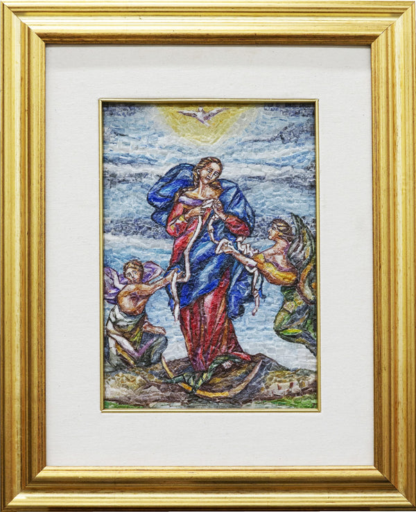 Mary Undoer of Knots mosaic