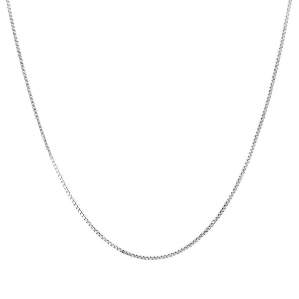 Box chain in sterling silver