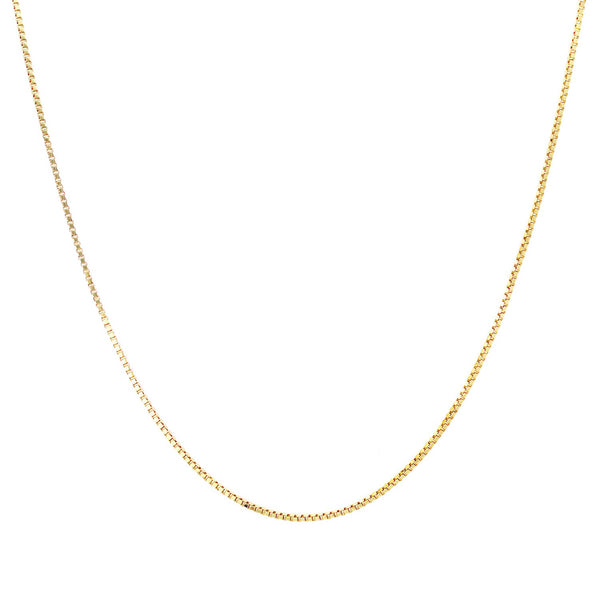 Box chain in yellow gold