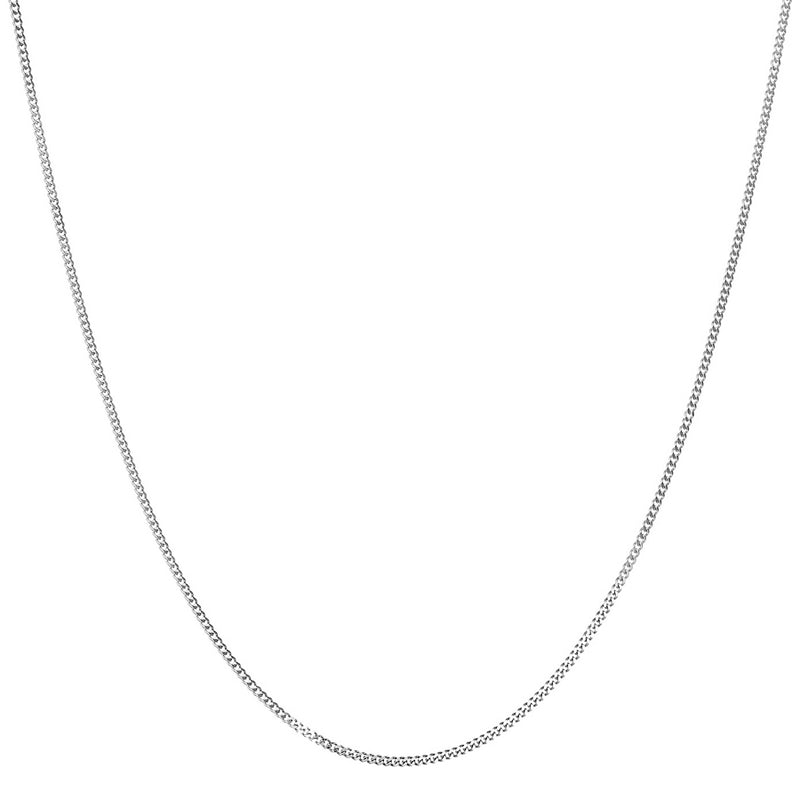 white gold curb chain