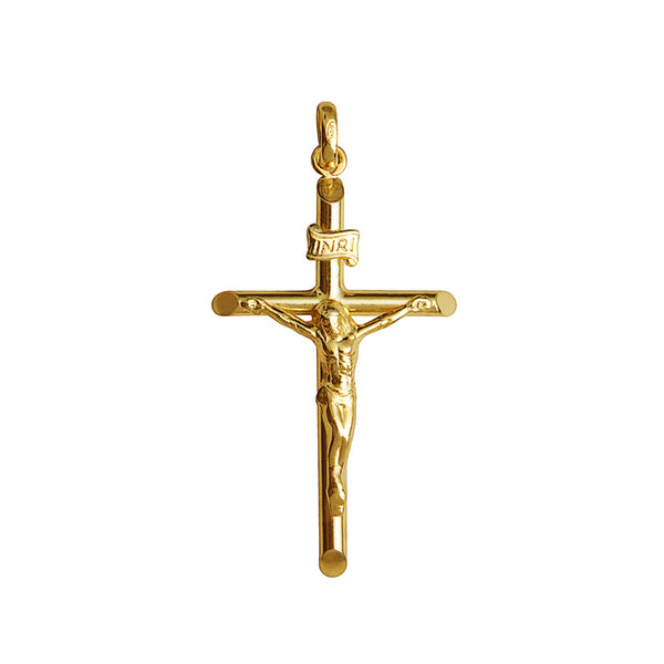 Classic crucifix pendant in yellow gold