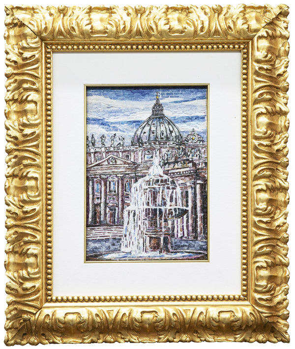 Fountain of St Peter Square mosaic