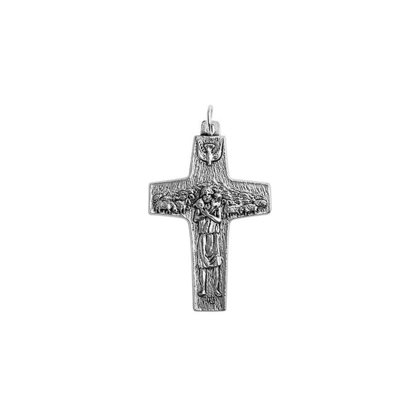 POPE FRANCIS - GOOD SHEPHERD CROSS - SILVER