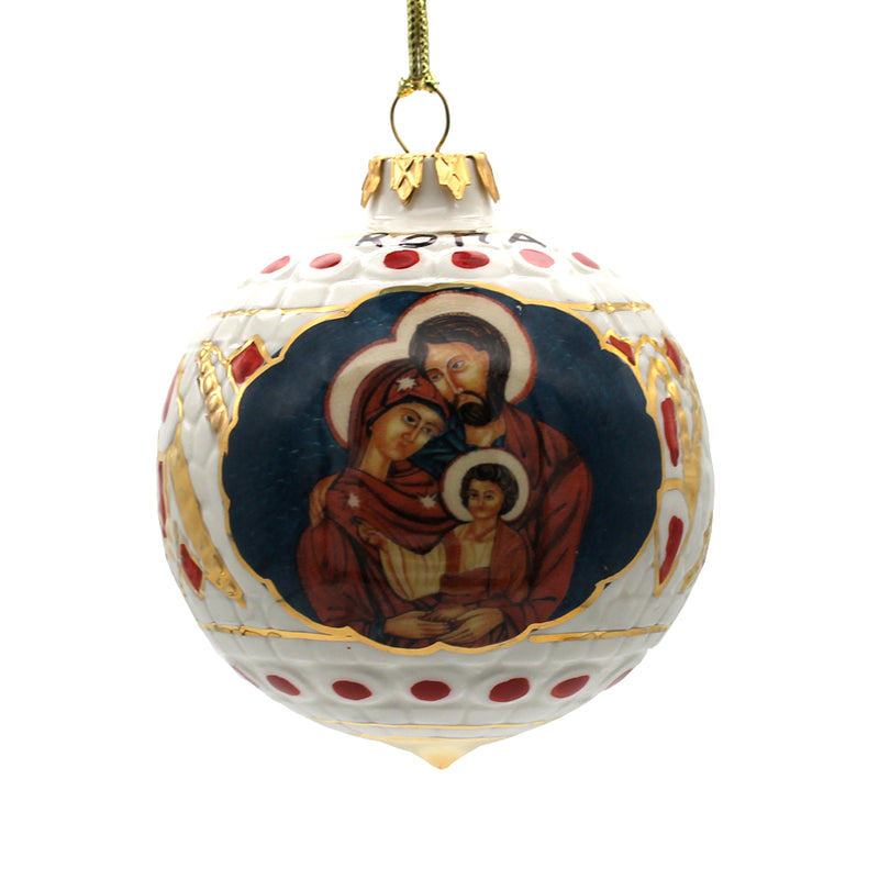 holy family christmas bauble