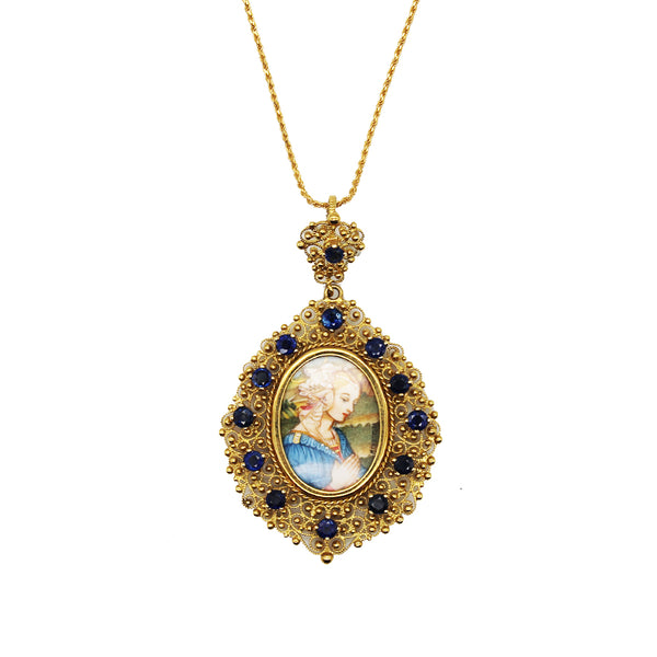 MADONNA OF LIPPI NECKLACE - GOLD AND SAPPHIRES