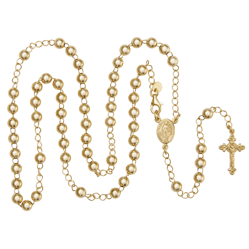 vermeil silver rosary necklace
