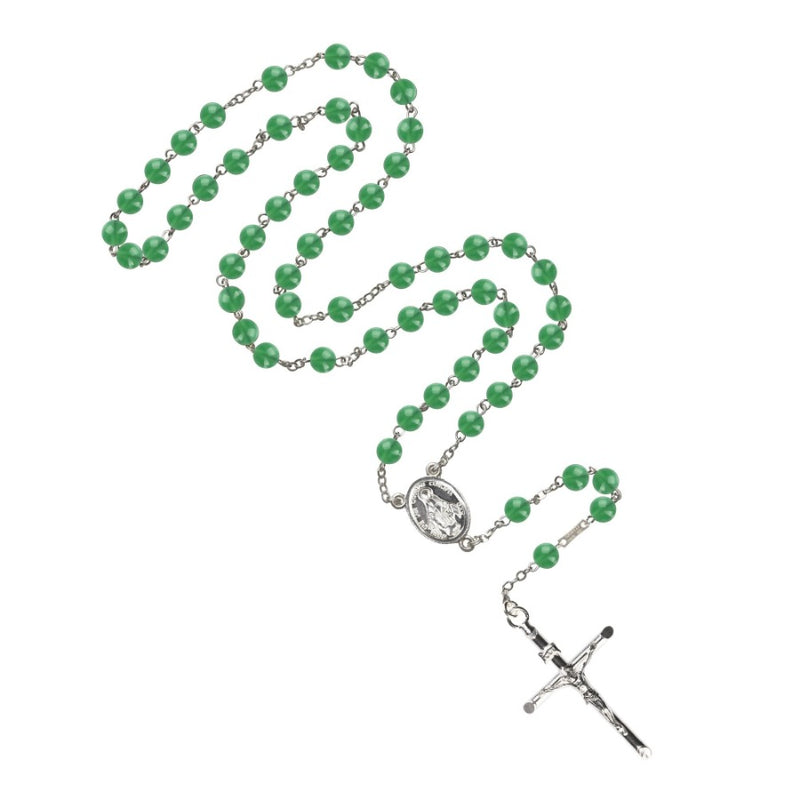 Green agate rosary