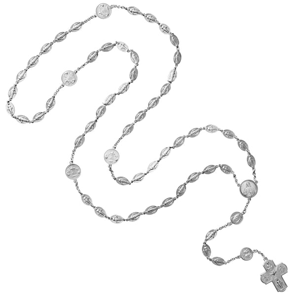 Miraculous and Scapular silver rosary