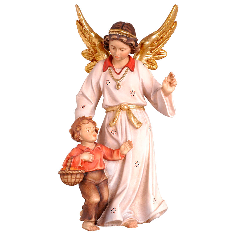 Guardian angel boy statue