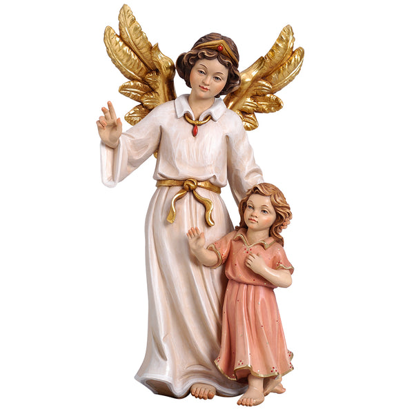 Guardian angel girl statue
