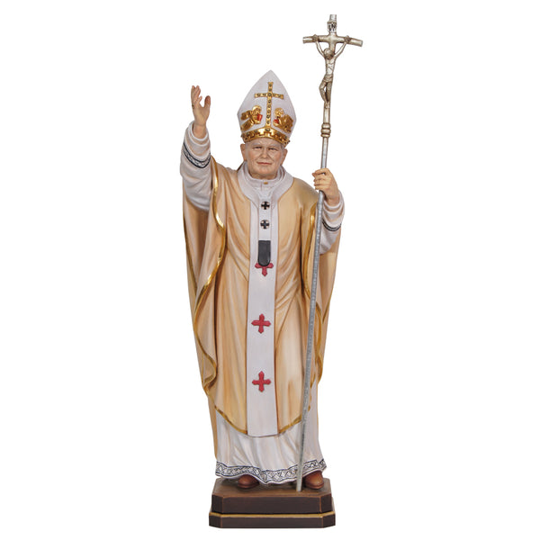 Pope John Paul II statue wood