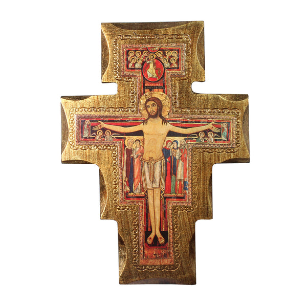 St Damian wall crucifix wood
