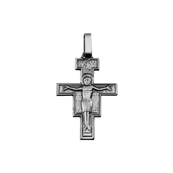 Sterling silver st damian crucifixx pendant