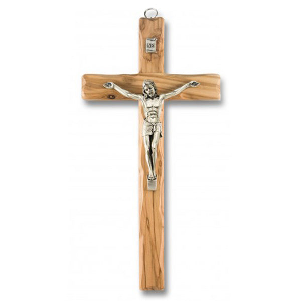 Olive wood wall crucifix