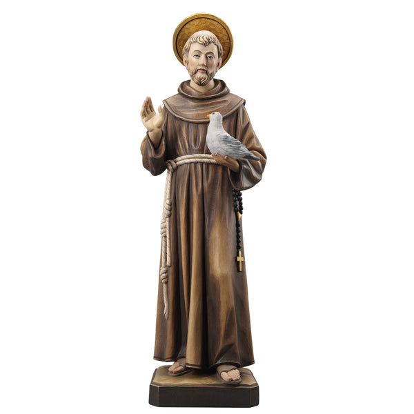 St Francis wood statue