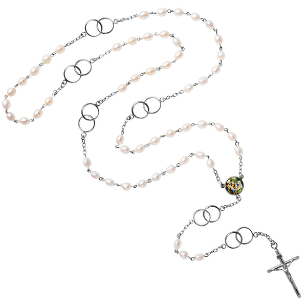 Sterling silver wedding rosary