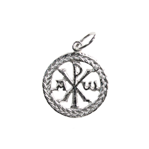 Chi ro pendant sterling silver