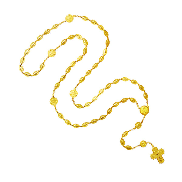 Miraculous and Scapular 18k gold rosary
