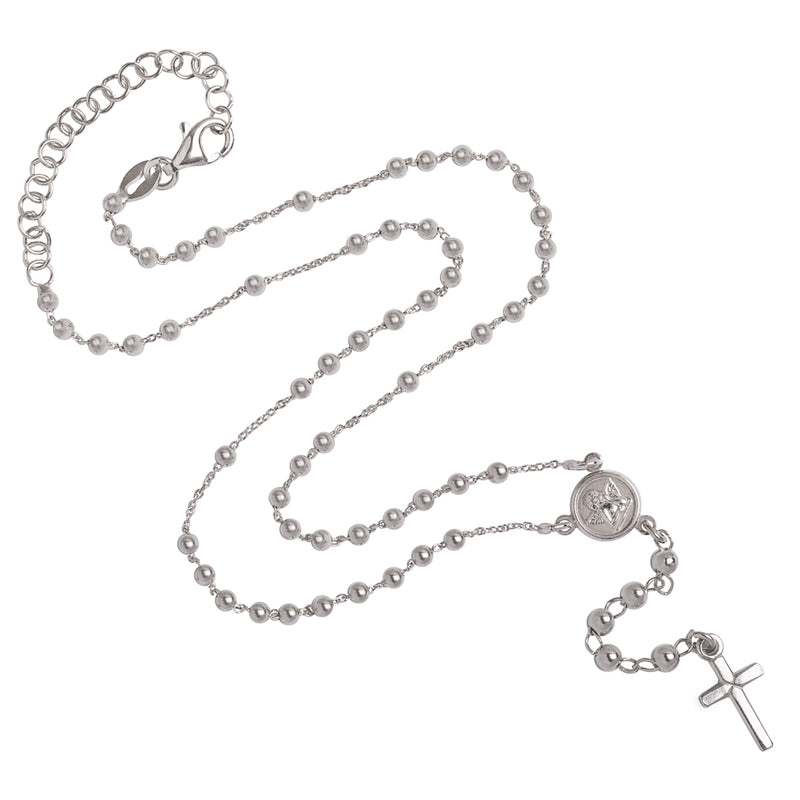 baby rosary necklace silver