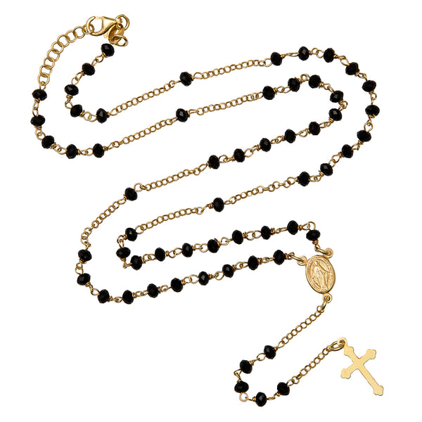 Crystal rosary necklace