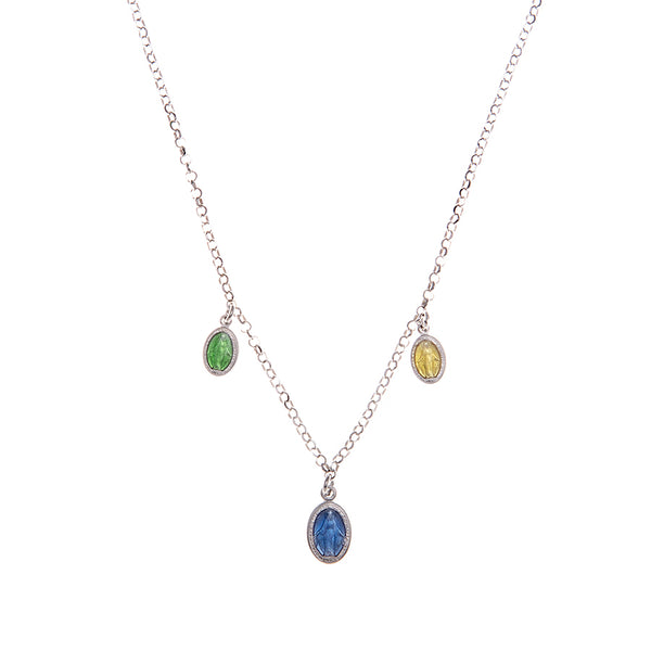saint mary multicharm necklace
