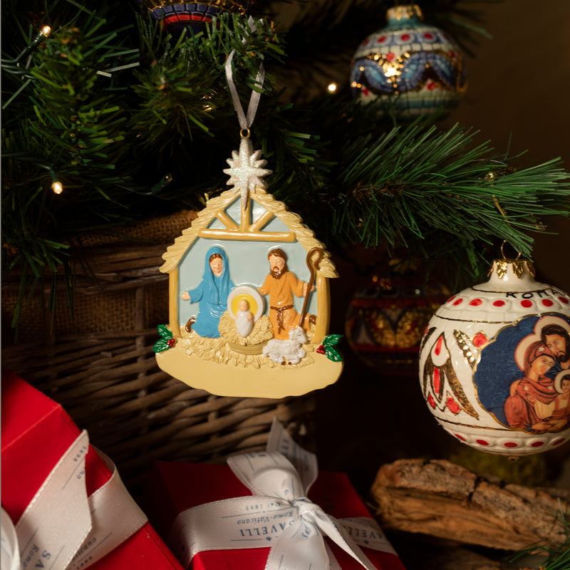 NATIVITY ORNAMENT - CHRISTMAS - RESIN
